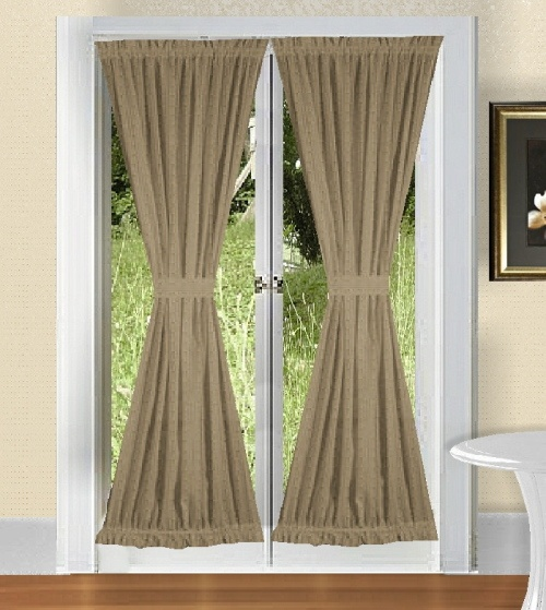 Khaki Colored French Door Curtain