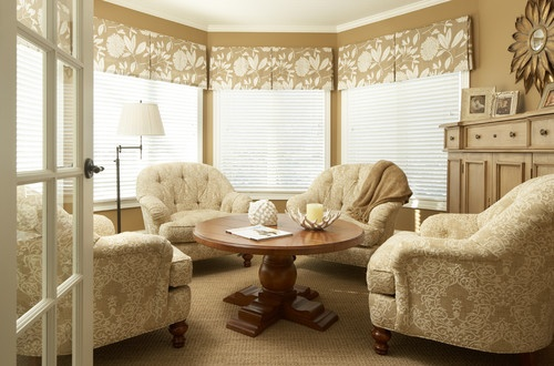 Bay window treatment ideas for Blind ideas for bay windows