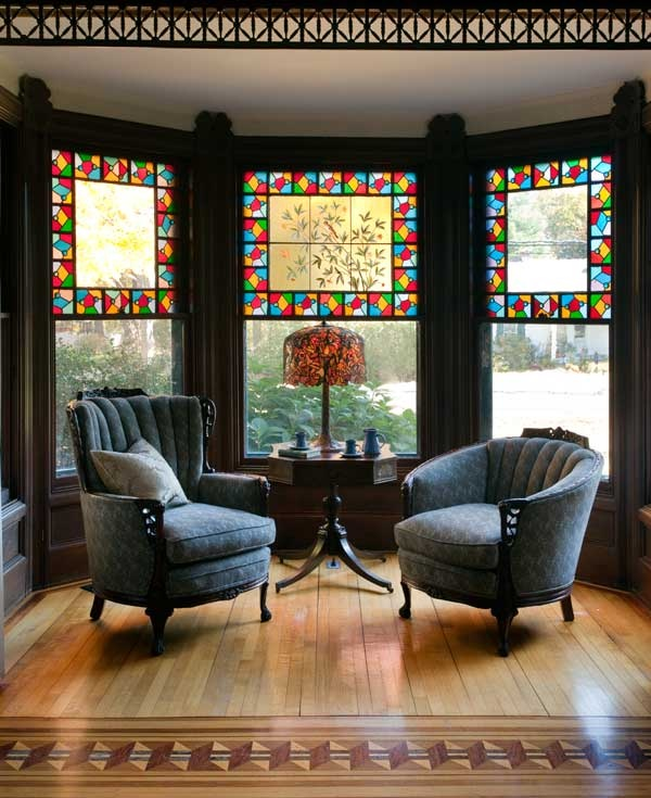 colorful glasses for your bay window