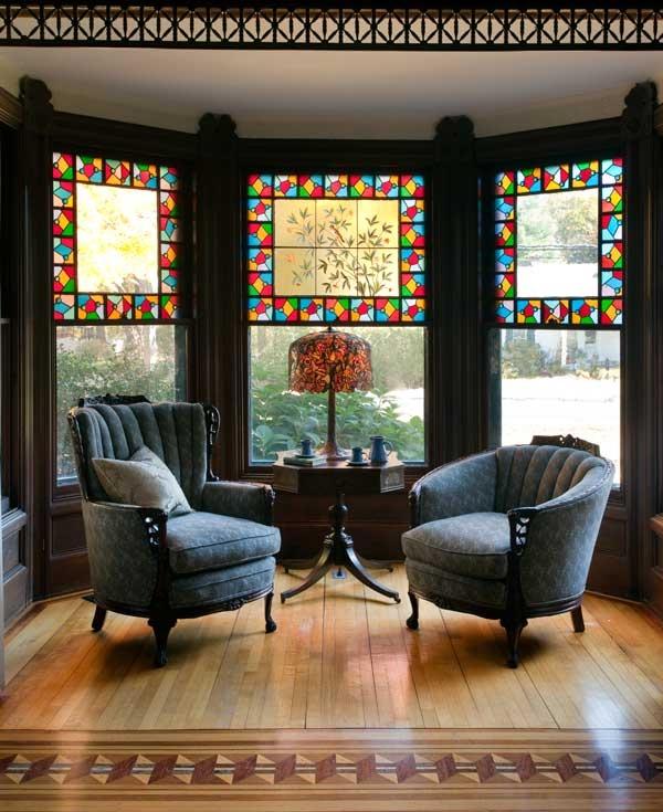 Small Kitchen Bay Window Treatments