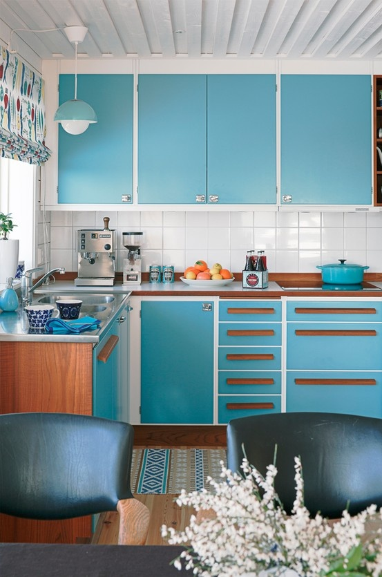 Retro kitchen design home decorating design for Retro kitchen designs
