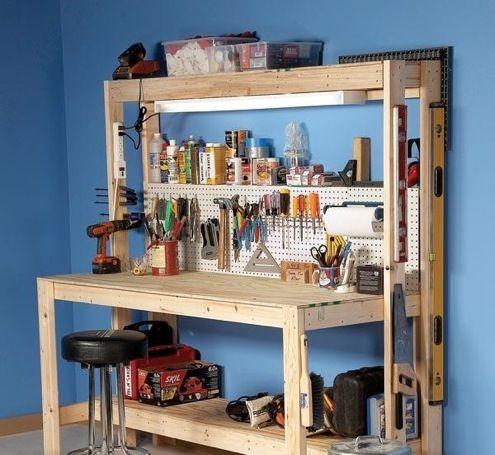 DIY-garage-workbench