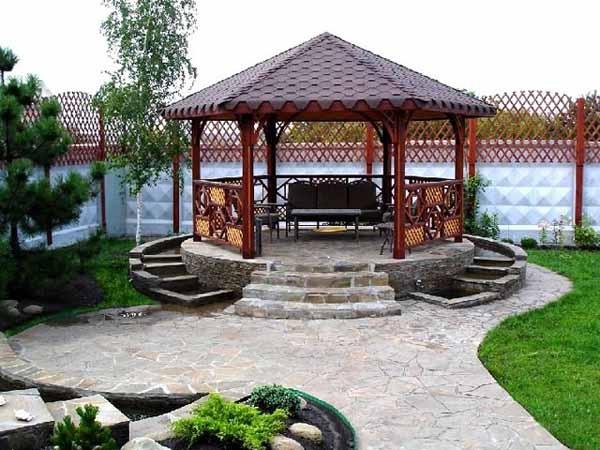 backyard wood gazebo