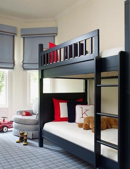 black_wooden_bunk_beds