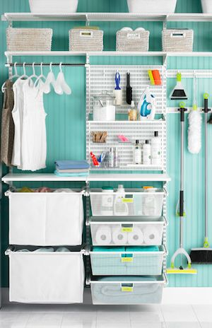 small-laundry-room-using-hanger-shelves