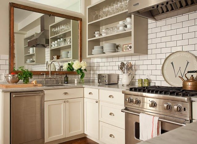 Use mirror in a small kitchen