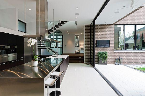 Shinning steel kitchen