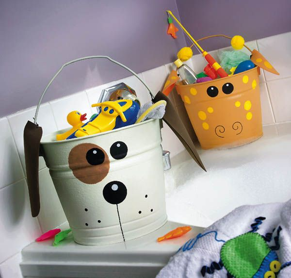 Toys in bucket
