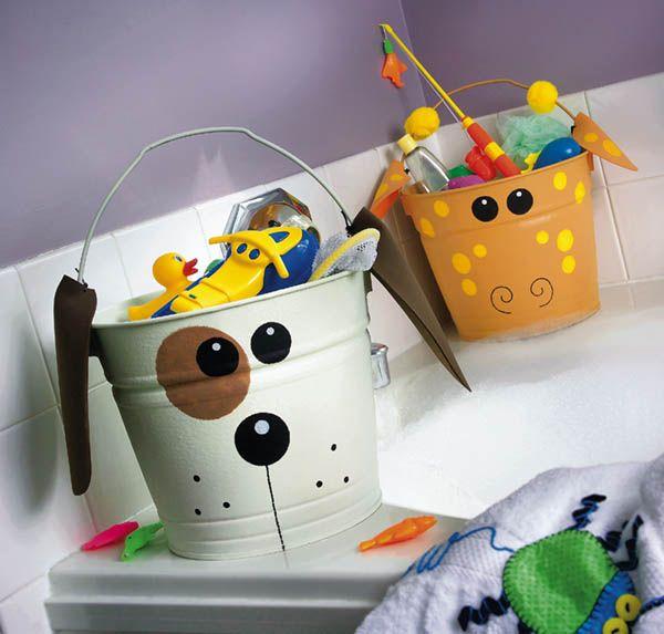 Toys in bucket