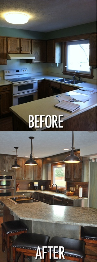 Kitchen remodeling before & after picture