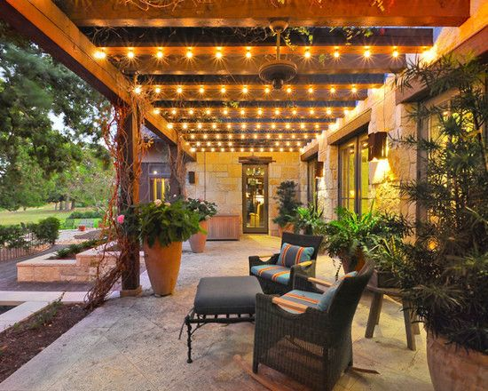 Patio lighting ideas for Luces patio exterior