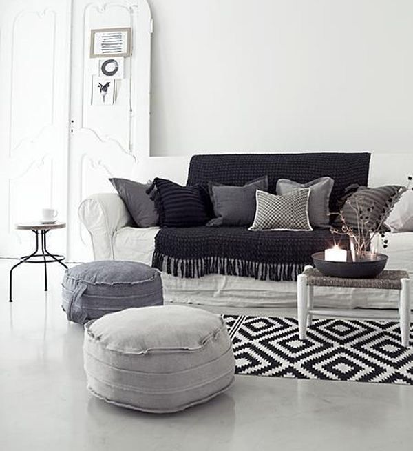 Carpet for black and white color theme