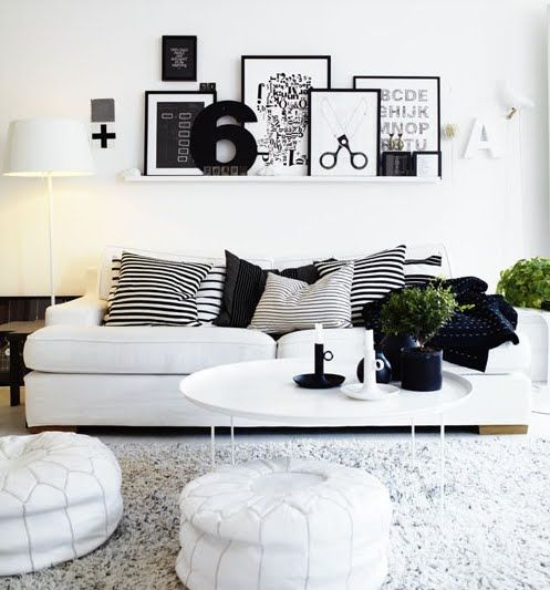Color Schemes For Living Room. Chic and modern living room color scheme Living Room Color Schemes  Black White