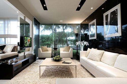 furniture for black & white color scheme
