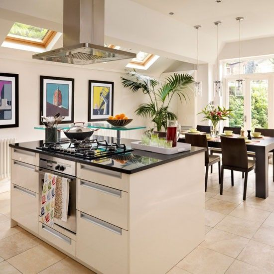 Home kitchen diner design ideas for Modern kitchen ideas uk