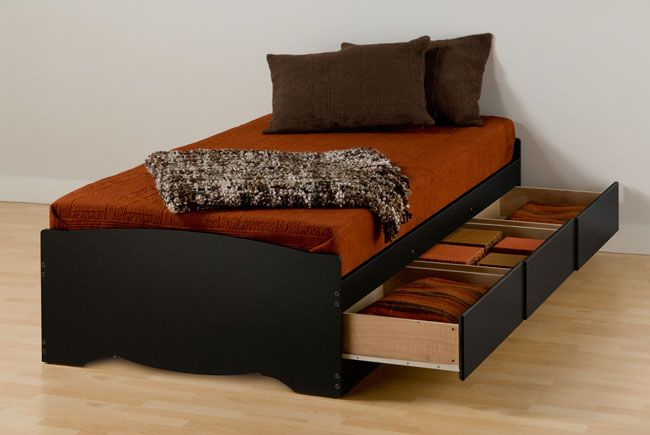 walnut black twin extra long bed frame with storage