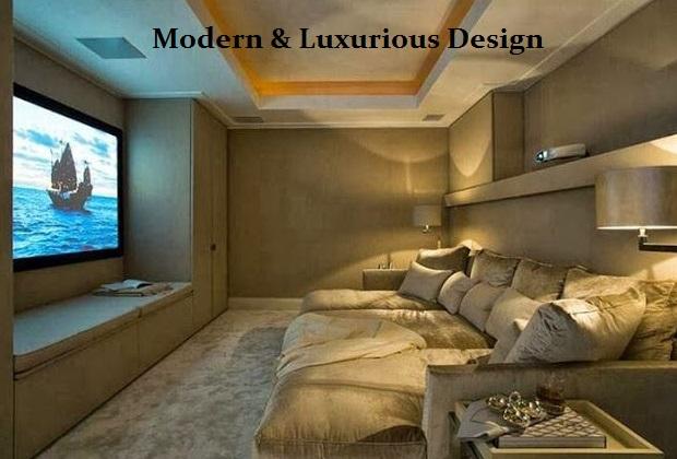 elegant media room