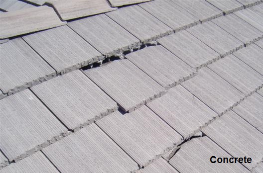 concrete shingles
