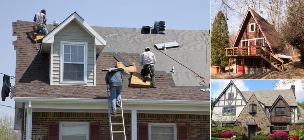 Steep roof repair