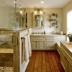 cedar wood for flooring in the bathroom