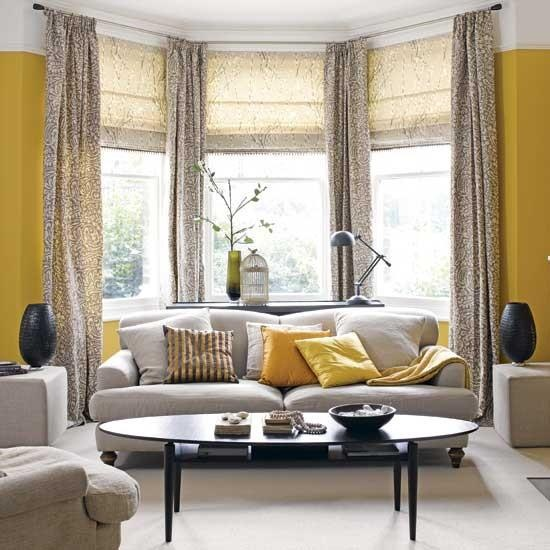 living room curtain ideas for bay windows bay window treatment ideas 27727