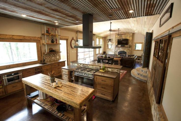 rustic open kitchen designs kitchens 161